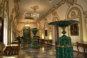 Malachite room in the Chapultepec Castle.