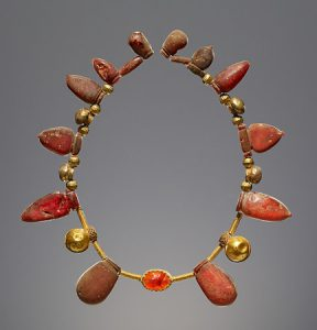 Amber Necklace with a Pendant 550–400 B.C.